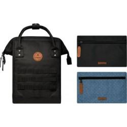 SAC A DOS CABAIA NOIR - Berlin - 1 petit sac + 2 poches
